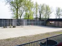Courtyard kennel block